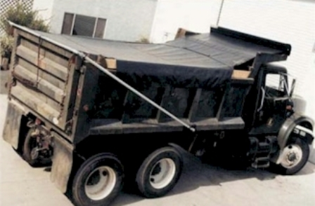 7' 6 x 22' Asphalt Tarp for High Temperature Asphalt conditions with side flaps