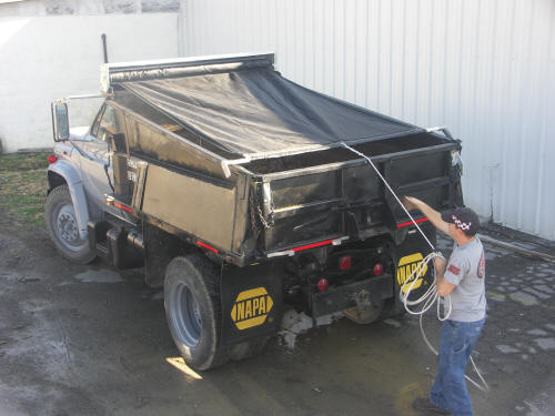 Single Axle Truck & Trailer Tarp System - Spring Return Window Shade style Tarp Kit