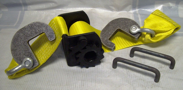 Rear Roll-Off Tie Down kits for most common Roll off containers and Roll off Boxes