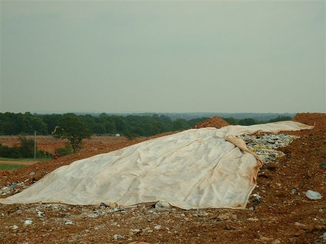 100' x 150' Alternative Daily Landfill Cover & Landfill Tarps, 3 Corner Pull Design