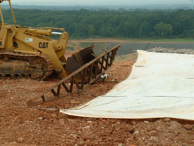 50' x 50' Replacement Alternative Daily Landfill Covers & Landfill Tarps for Bar Spreader deployment