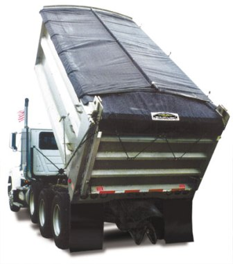 7' x 12' Asphalt Tarp for High Temperature Asphalt Conditions with tail flap