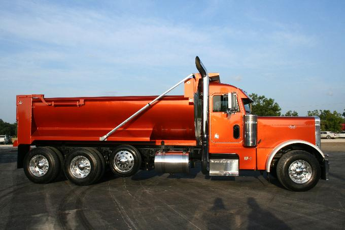 Polished Aluminum Electric Dump Truck Tarp Kit, 4 spring external mount, body lengths from 16' - 20'