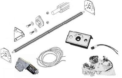 Electric Conversion Kit for bodies up to 24' long, also new tarp axle, axle bearings & End plates