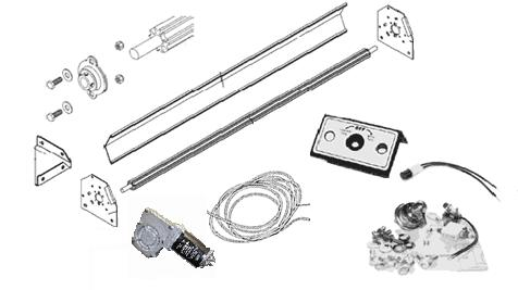 Electric Conversion Kit up to 24' long body, new tarp axle, bearings & End plates