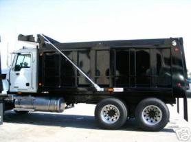 Electric Dump Truck Tarp system, External Mount tarp springs, Steel Tarp Arms