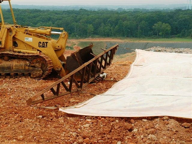 50' x 75' Replacement Alternative Daily Landfill Covers & Landfill Tarps for Bar Spreader deployment