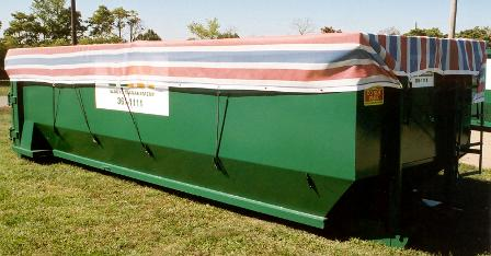 12' x 28' Heavy Duty Mesh hand/throw tarp, great for 20yd 30yd 40yd roll-off containers