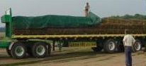 12' x 52' Economy Black Knit Hand Tarp for Landscaping, Sod Hauling, and General Purpose Tarp