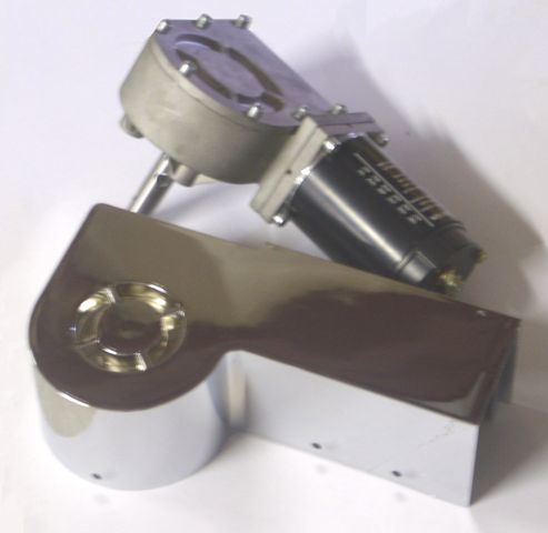 Tarp Motor Long shaft with Chrome Motor Cover, will also fit Aero Industries tarp systems