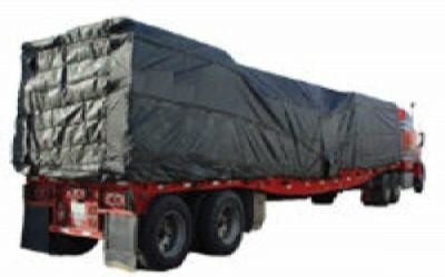 Flatbed Waterproof Lumber Tarp 8' Drop, 24' x 27', 3 rows of Dee Rings