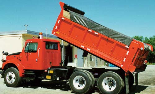 High Temperature Asphalt Tarps Dump Trucks & Dump Trailers - Tarps with Side and Tail Flaps